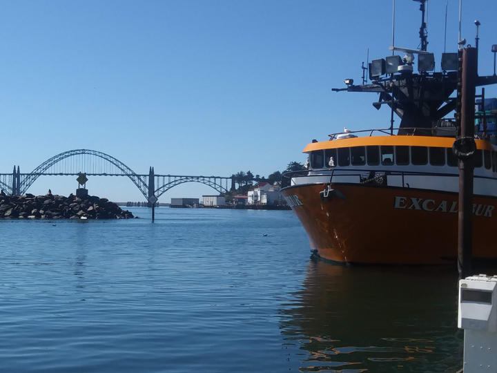 A large trawl vessel