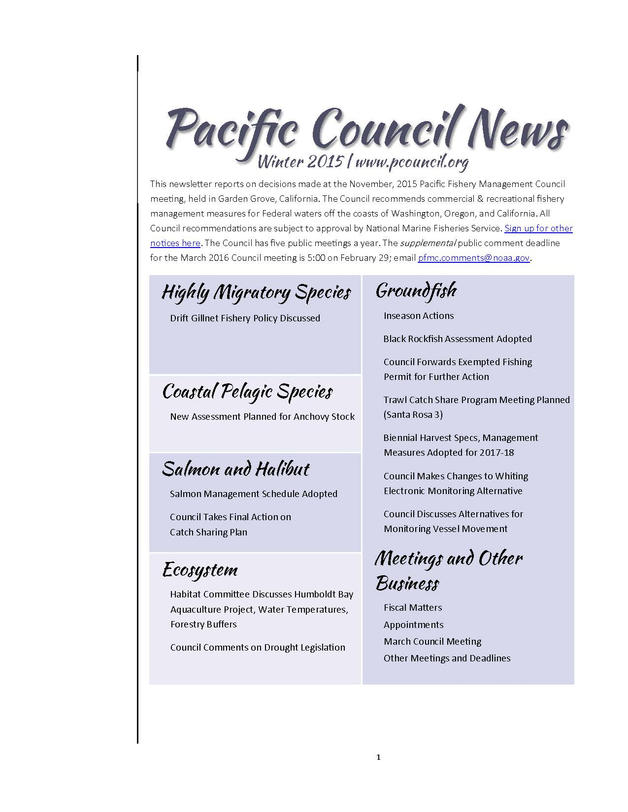 Winter 2015 newsletter image