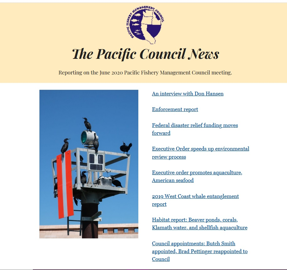 Summer 2020 Pacific Council News